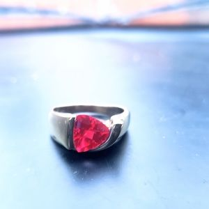 14k GP over 925 Ruby Ring